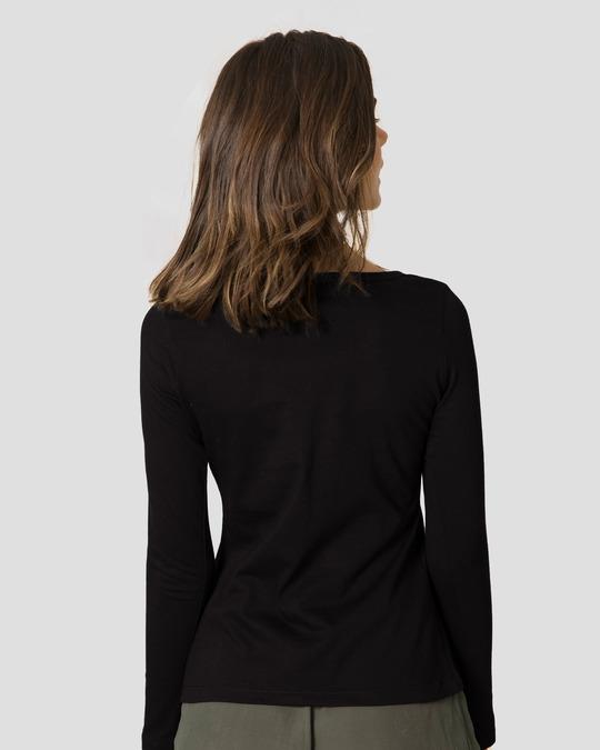 Shop Friends Logo Scoop Neck Full Sleeve T-Shirt (FRL)-Back