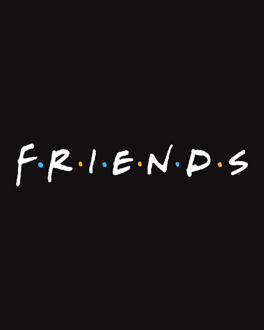 Shop Friends Logo Scoop Neck Full Sleeve T-Shirt (FRL)-Full