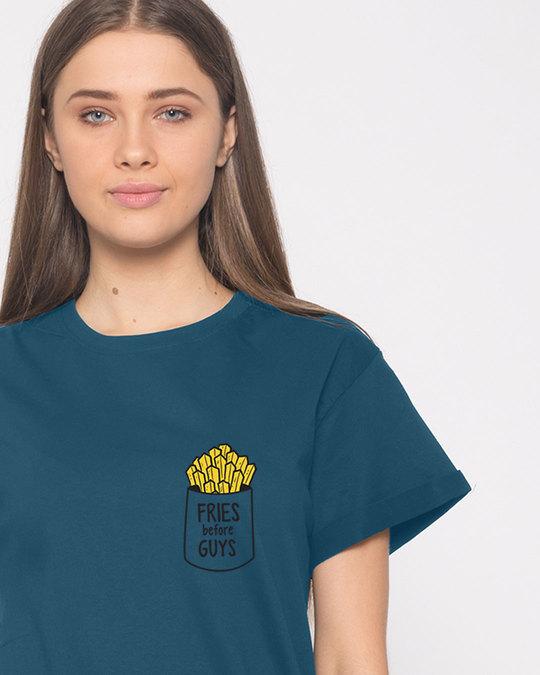 Shop Fries Before Guys Boyfriend T-Shirt-Front