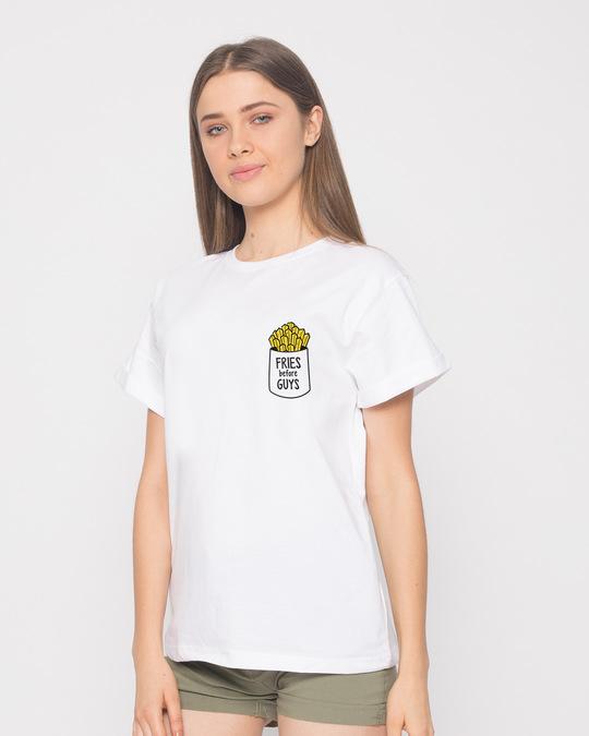 Shop Fries Before Guys Boyfriend T-Shirt-Full