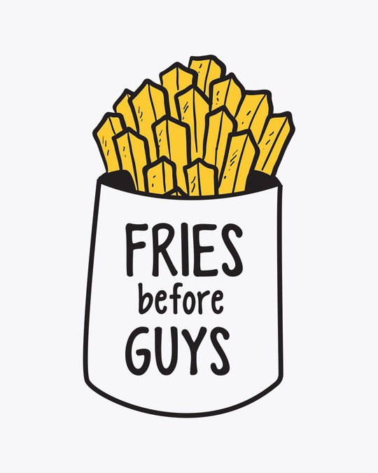 Shop Fries Before Guys Boyfriend T-Shirt