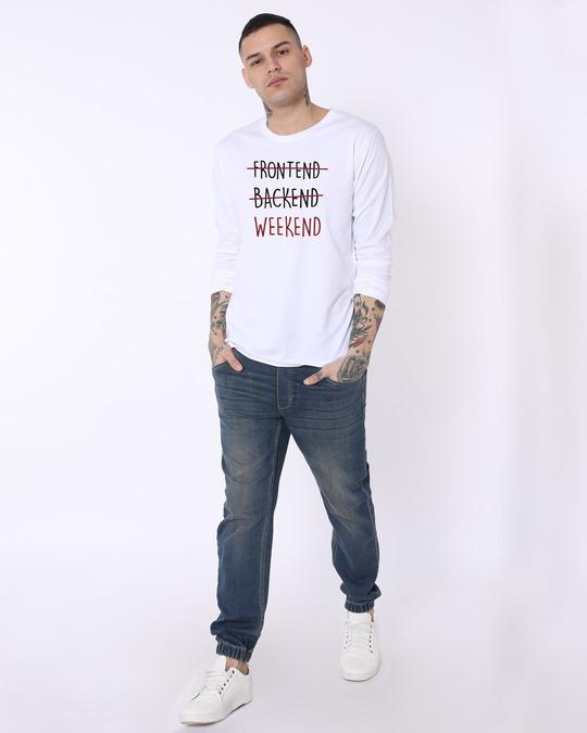 Shop Frontend Backend Full Sleeve T-Shirt-Full