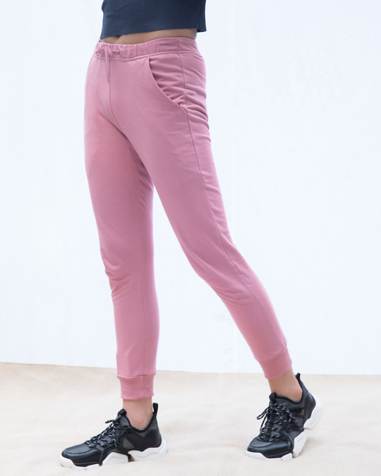 Shop Frosty Pink Casual Jogger Pants-Back