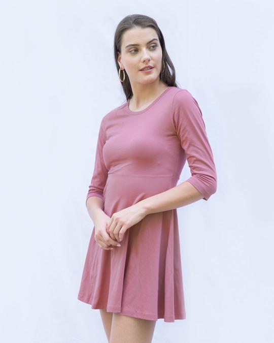 Shop Frosty Pink Flared Dress-Back