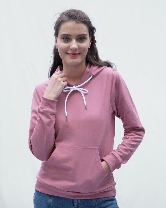 Shop Frosty Pink Fleece Hoodies-Back