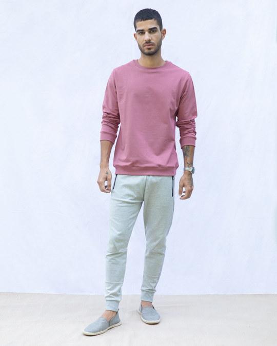 Shop Frosty Pink Fleece Light Sweatshirt-Full