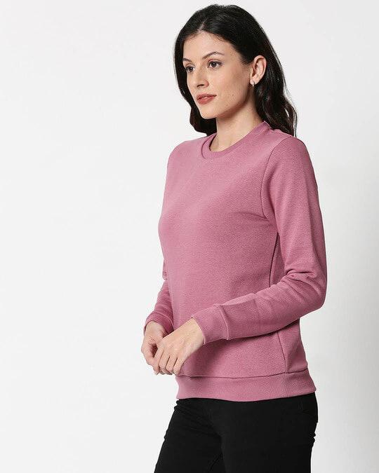 Shop Frosty Pink Fleece Sweater-Design