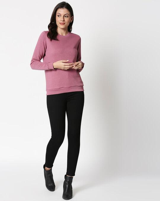 Shop Frosty Pink Fleece Sweater