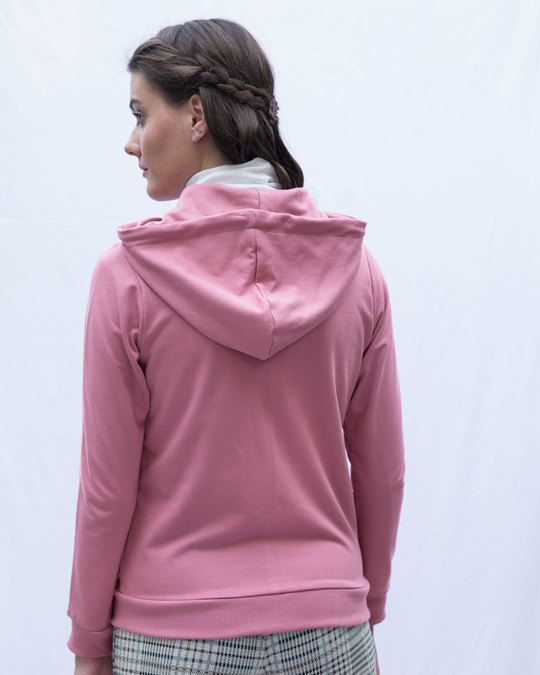 Shop Frosty Pink Fleece Zipper Hoodies-Design
