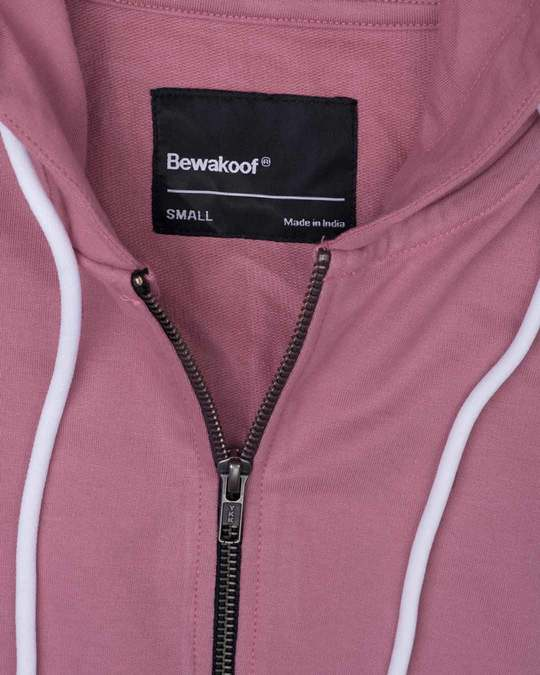 Shop Frosty Pink Fleece Zipper Hoodies