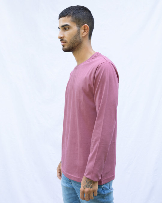 Shop Frosty Pink Full Sleeve T-Shirt-Back