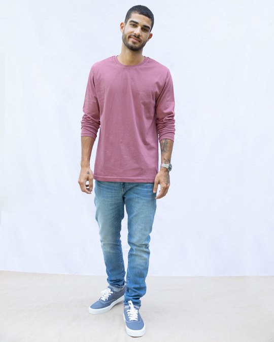 Shop Frosty Pink Full Sleeve T-Shirt-Full