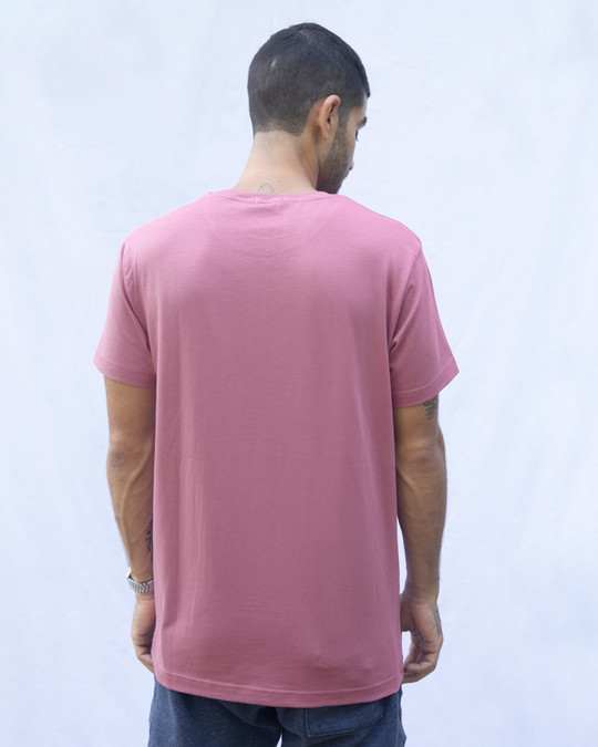 Shop Frosty Pink Half Sleeve T-Shirt-Design