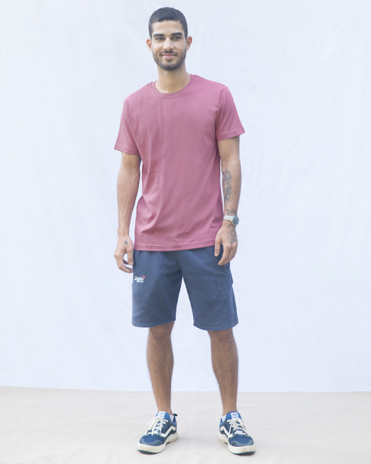 Shop Frosty Pink Half Sleeve T-Shirt-Full