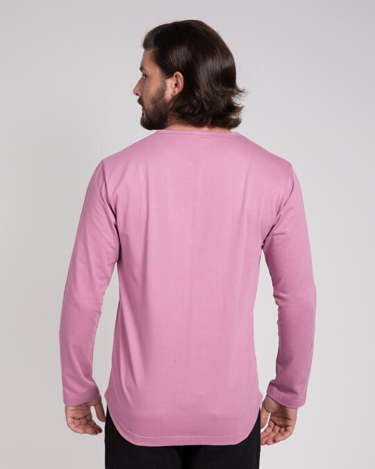 Shop Frosty Pink V-Neck Henley T-Shirt-Design