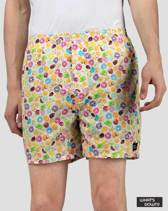 Shop What's Down | Fruit Loopy Boxer Shorts-Front