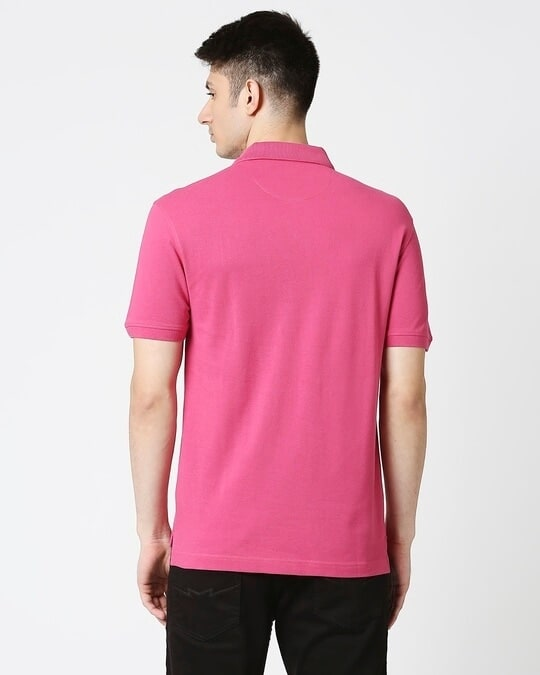 Shop Fuchsia  Pique Polo-Full