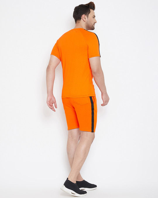Shop Anti Social Taped Tee And Shorts Combo Suit-Design