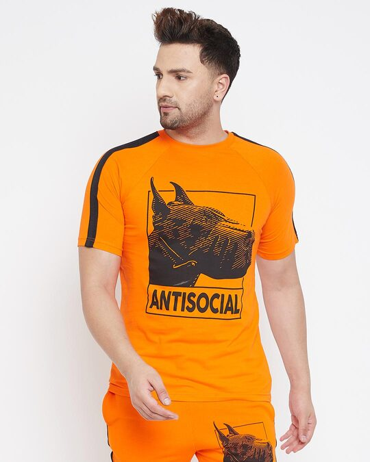 Shop Anti Social Taped Tee-Front