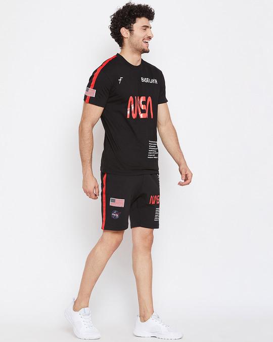 Shop Black Nasa Base Layer Combo Summer Suit-Back