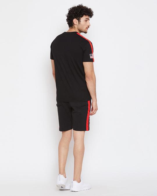 Shop Black Nasa Base Layer Combo Summer Suit-Design