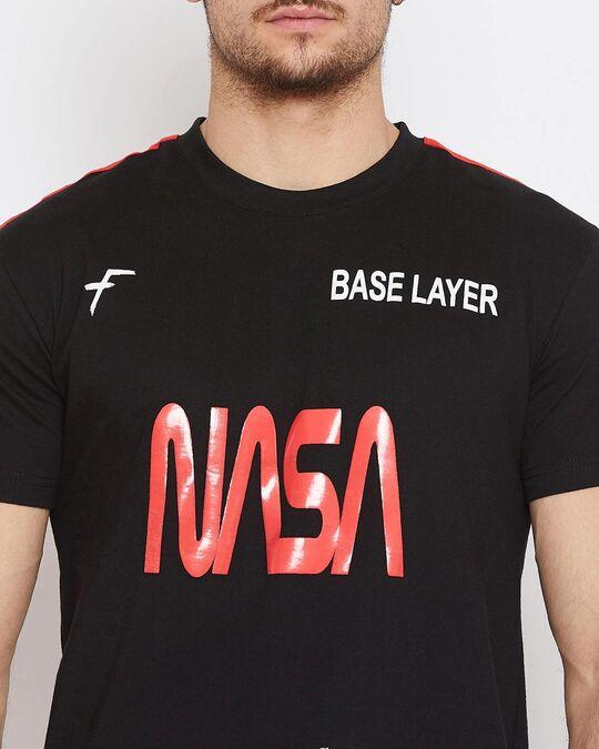 Shop Black Nasa Base Layer Combo Summer Suit-Full