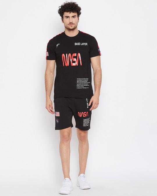 Shop Black Nasa Shorts