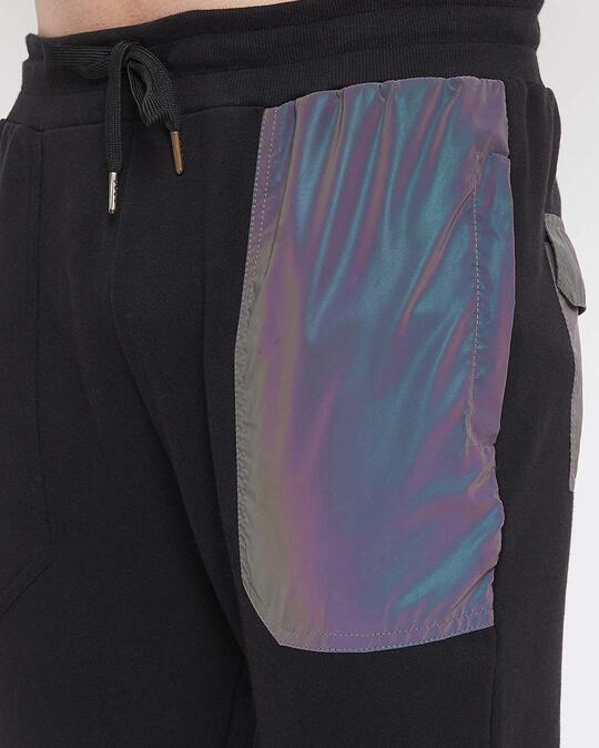 Shop Black Rainbow Reflective Patch Tracksuit