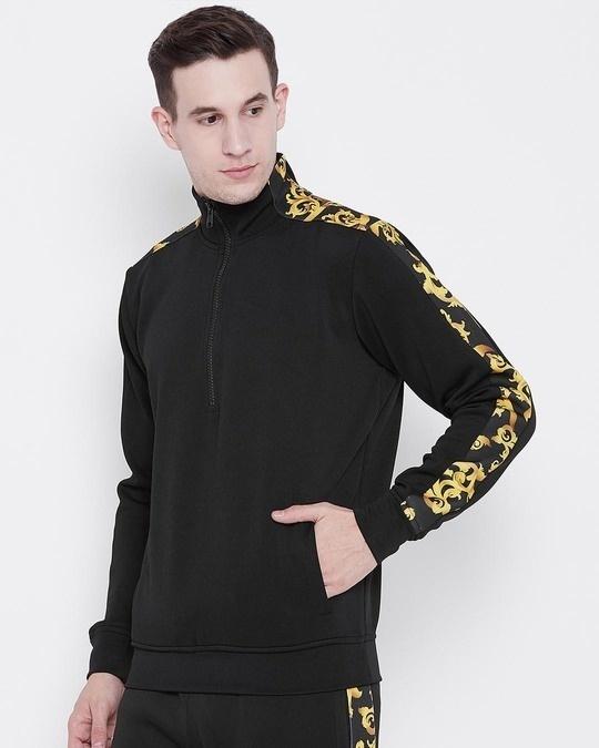 Shop Black Venetian Scuba Sweatshirt