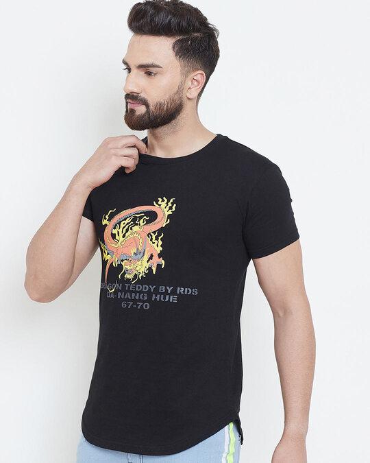Shop Black Vietnam Graphic Tshirt-Back