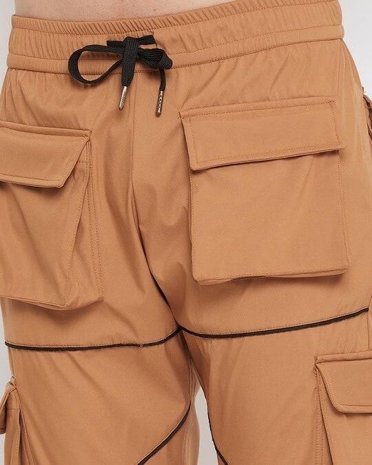 Shop Camel Nylon Cargo Pocket Trackpant