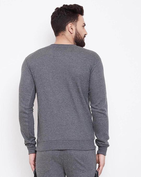 Shop Charcoal Chest Pocket Taped Sweatshirt