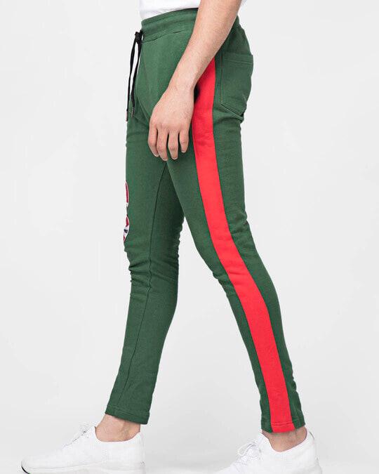 Shop Forest Green Snake Patched Sweatpant-Back