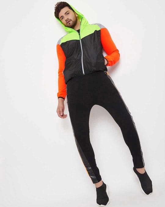 Shop Nylon Reflective Cut And Sew Windcheater Jacket