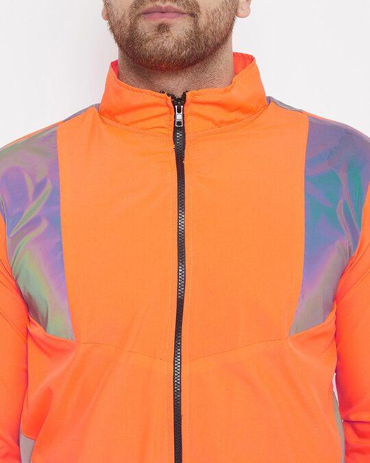 Shop Orange Rainbow Reflective Cargo Tracksuit