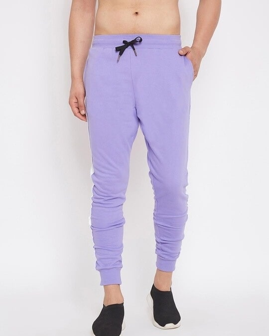Shop Plum Overzised Taped Trackpants-Front