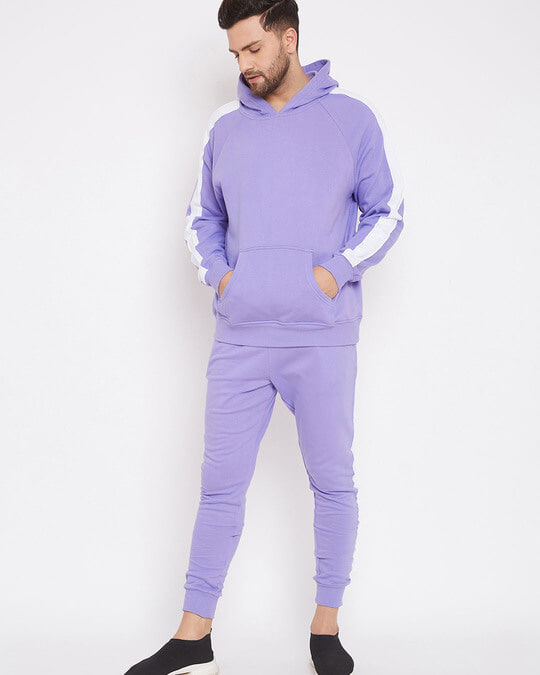 Shop Plum Overzised Taped Trackpants-Back