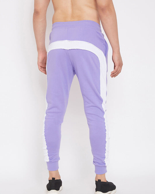Shop Plum Overzised Taped Trackpants