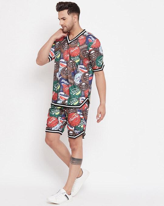 Shop Soda Crown Basketball Fit Tshirt-Full