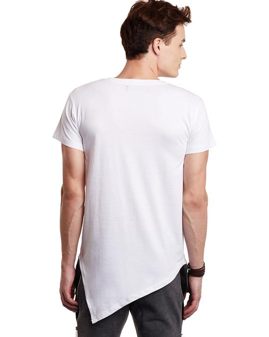 Shop White Triangular Hem Tee-Design