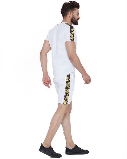 Shop White Venetian Combo Summer Suit-Design