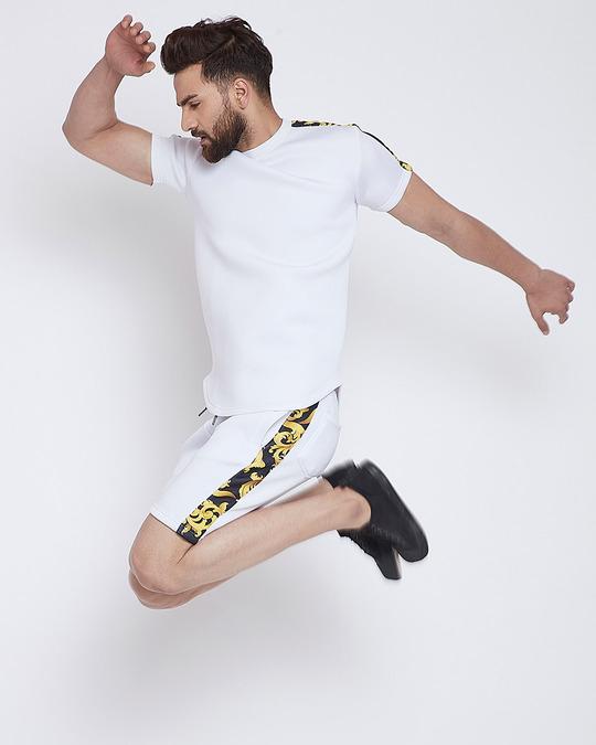 Shop White Venetian Scuba Shorts