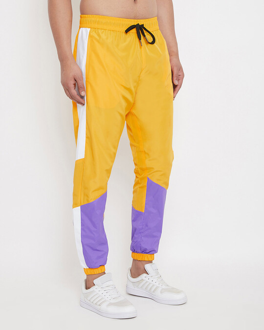 Shop Yellow & Plum Lightweight Sweatpant-Back