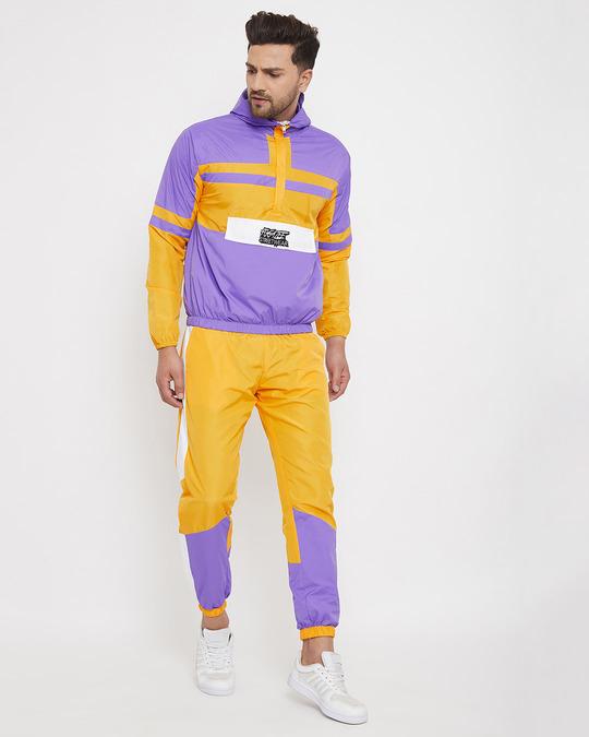 Shop Yellow & Plum Lightweight Sweatpant