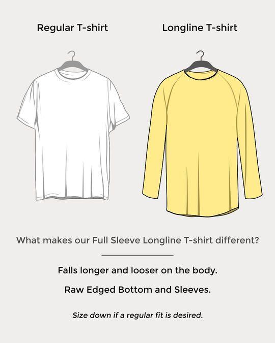 Shop Jet Black Longline Full Sleeve T-Shirt-Design