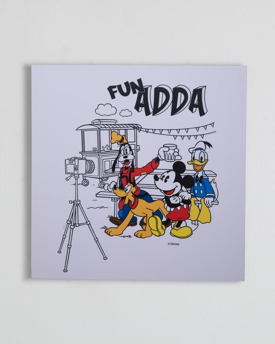 "Shop Fun Adda (Disney) Square Graphic Board-12""x12"" Multicolor-Front"
