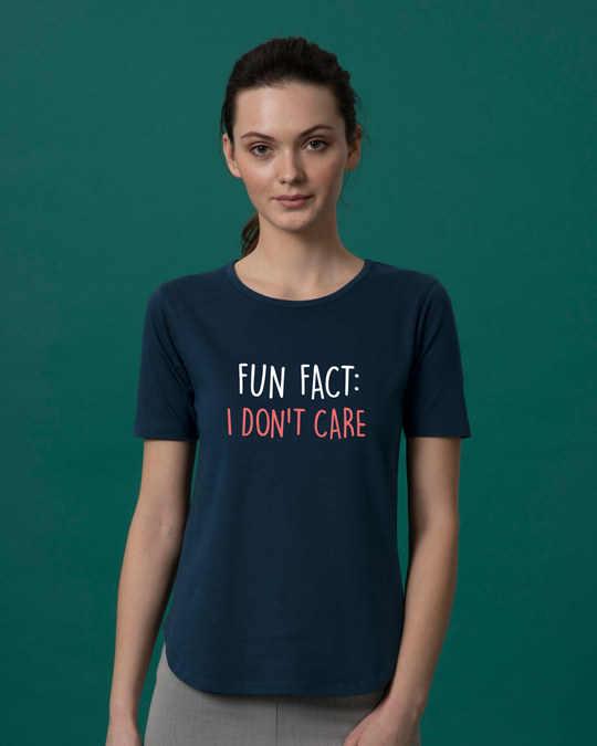 Shop Fun Fact : Idc Basic Round Hem T-Shirt-Front