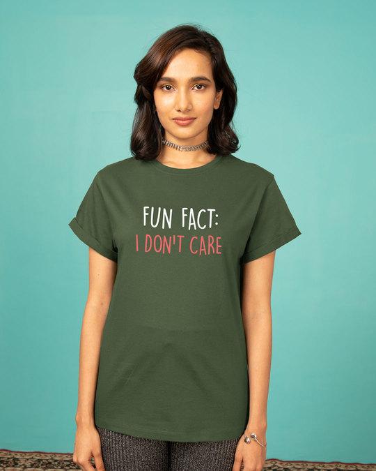 Shop Fun Fact : Idc Boyfriend T-Shirt-Front