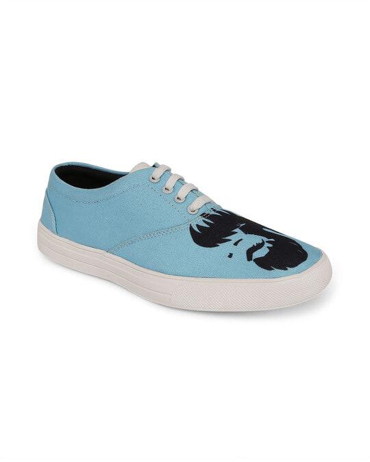 Shop Beardo Blue Sneakers-Front