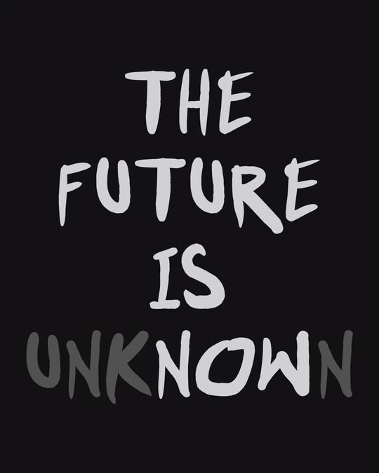 Shop Future Is Unknown Basic Round Hem T-Shirt